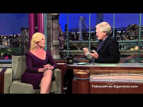 Katherine Heigl Smokes Tobacco Free Cigarette on Letterman