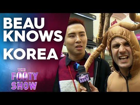 Beau Knows Korea   NRL Footy Show