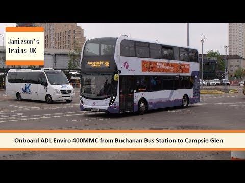 Onboard ADL Enviro 400MMC from Buchanan Bus Station to Campsie Glen
