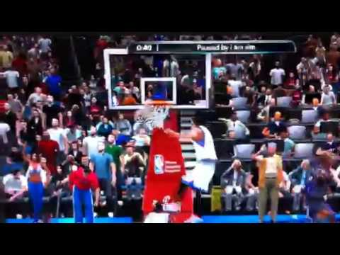 Rodney Carney 360 alley oop on NBA 2K10