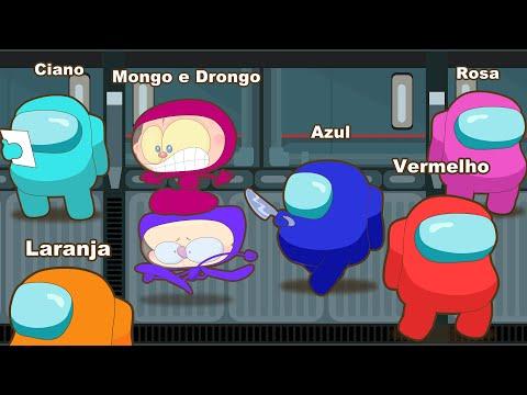 Mongo e Drongo desvendam Among Us - Desenho animado paródia do jogo Among Us