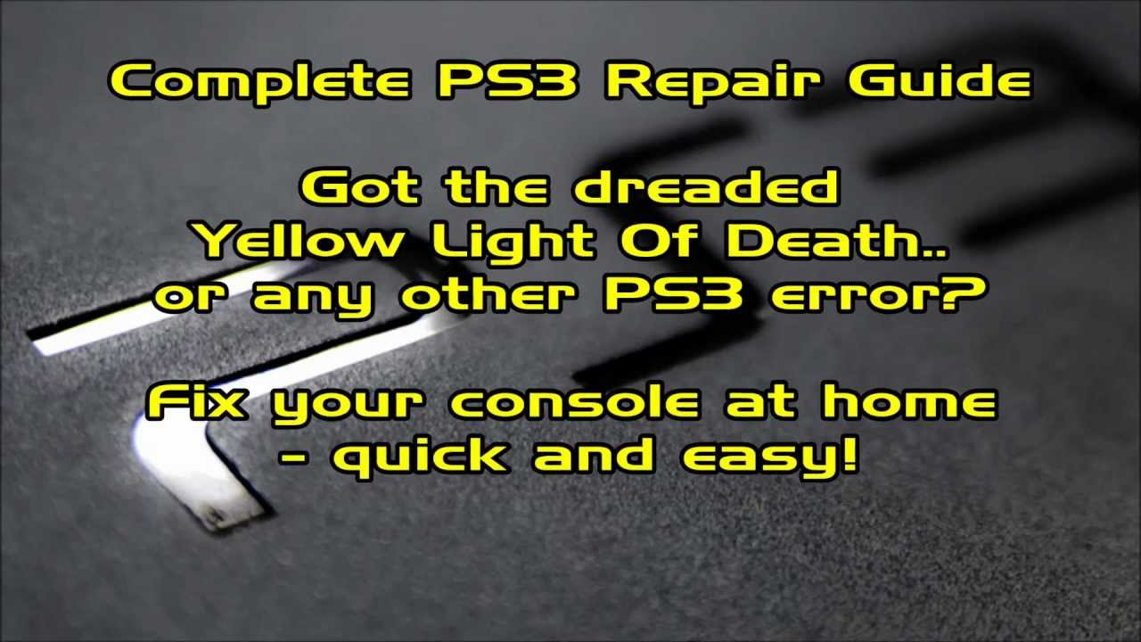 how to fix ylod ps3 without opening it