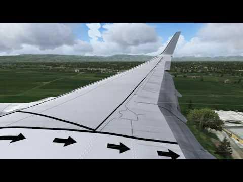 Boeing 737-800 7T-VJJ Landing in ALgiers by a rainy day