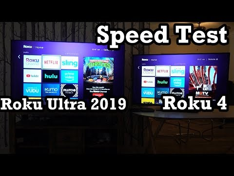 Roku Ultra 2019 Speed Test Roku 4 Review Walkthrough Showcase Demo Impressions
