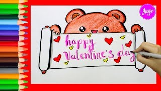 IDEAS PARA DIBUJAR TARJETAS DE SAN VALENTIN/How to draw cards for Valentine's Day