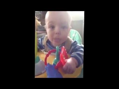 363814ee95 Mortimer eating peanut butter 5 months - YouTube