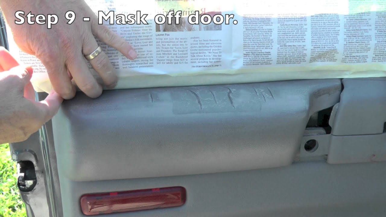 How to repair cracked vinyl armrest. - YouTube