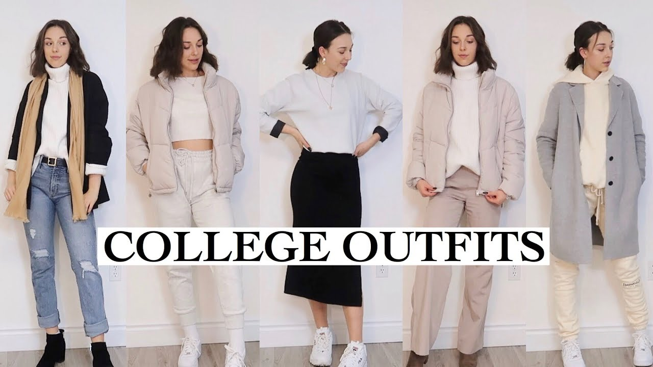 [VIDEO] - COLLEGE OUTFITS: what to wear to be comfy but stylish! 5