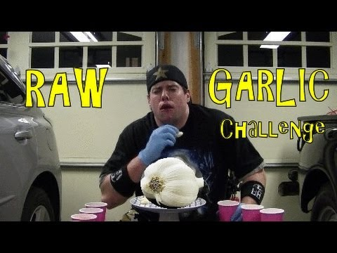 The 50 Raw Garlic Clove Challenge in 4min (Must See)