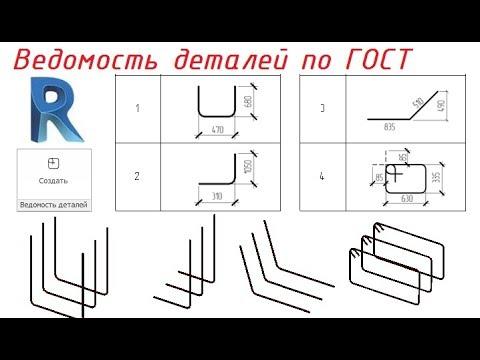 Revit - ведомость деталей по ГОСТ