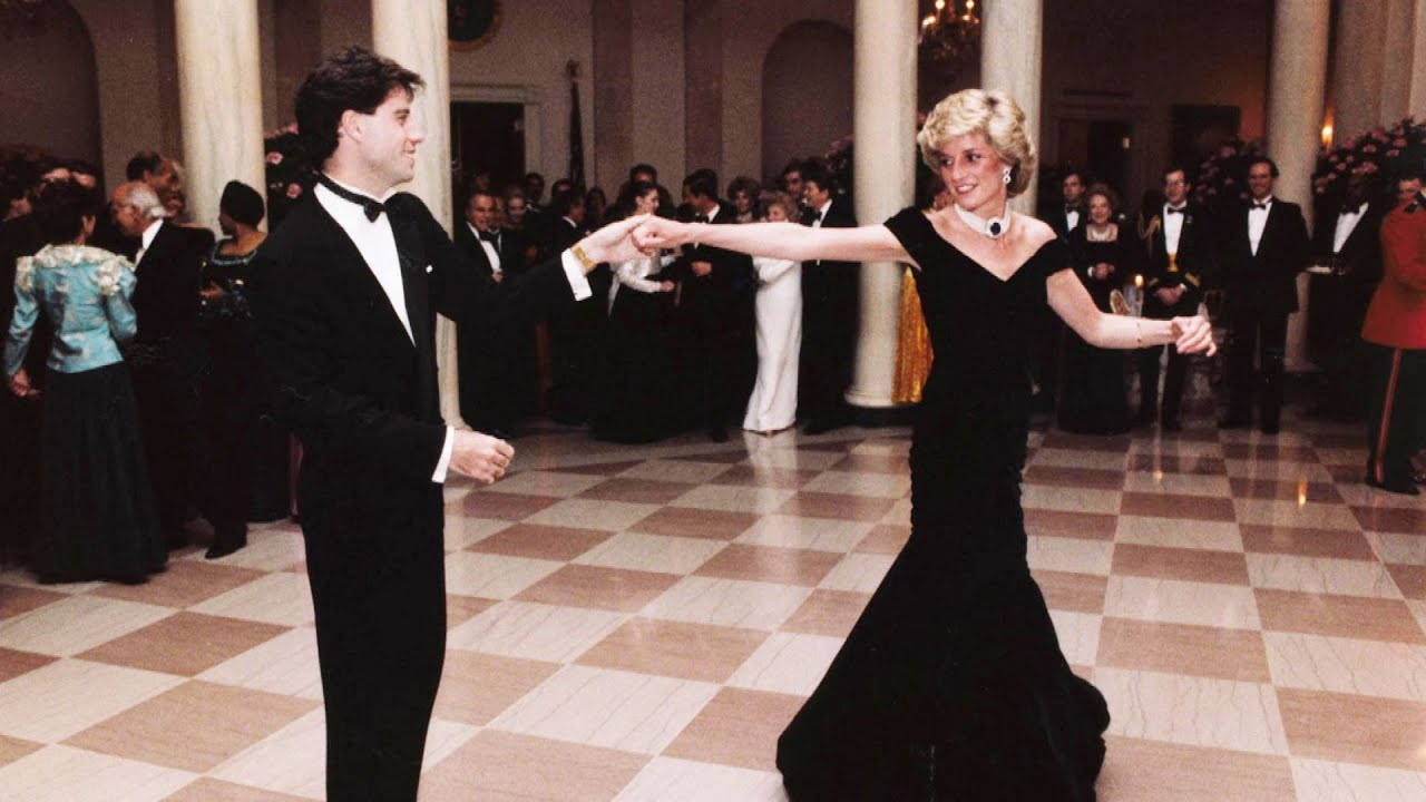 Princess Diana's Dress From Iconic Dance With John Travolta Is For Sale -  YouTube