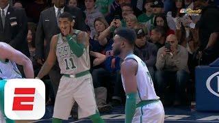 Kyrie Irving and Jaylen Brown get saucy vs. New York Knicks | ESPN