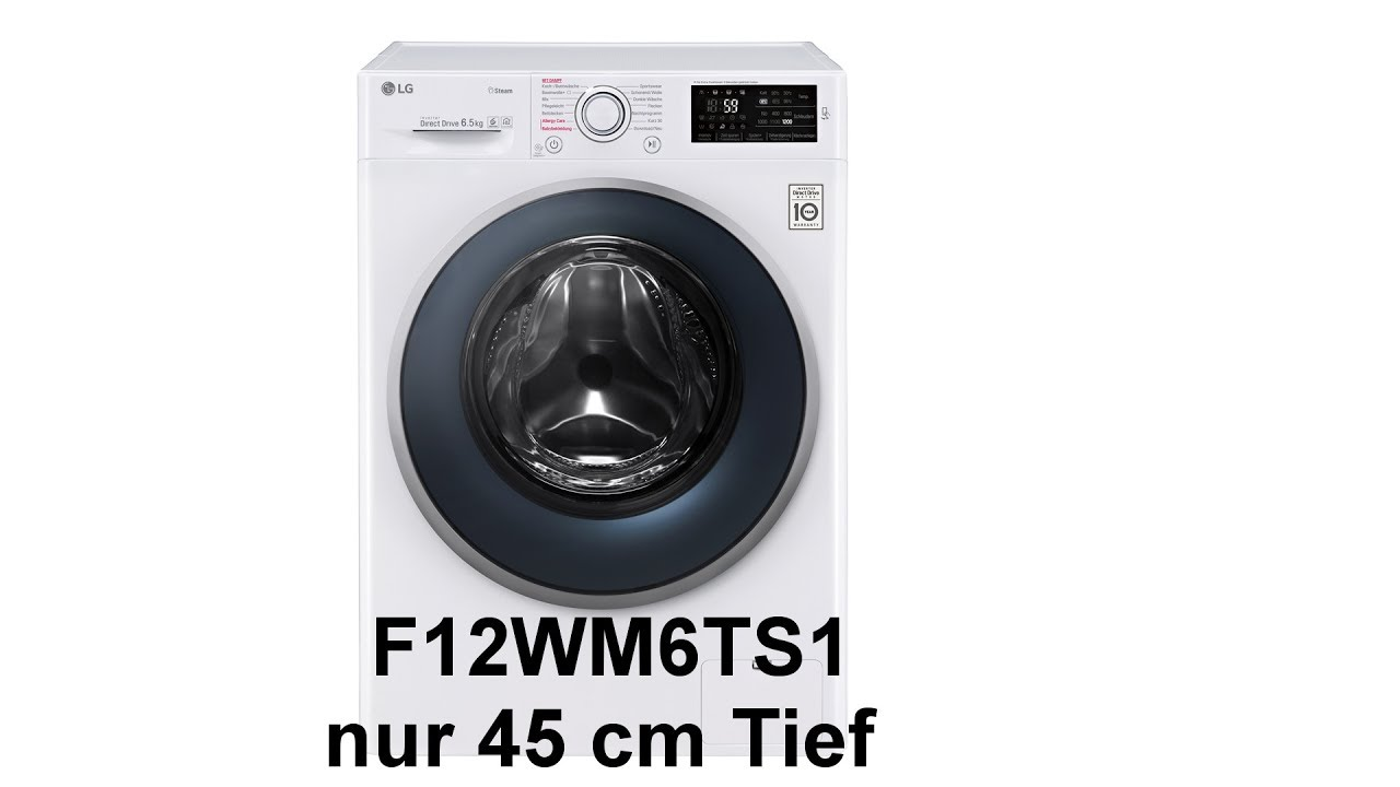 waschmaschine lg electronics f12wm6ts1 6 5 kg mit dampf a 10 inverter direct drive. Black Bedroom Furniture Sets. Home Design Ideas