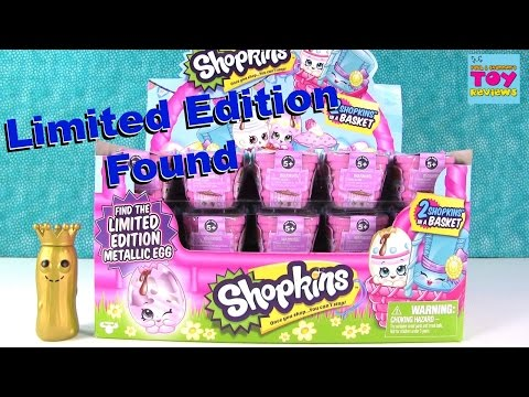 LIMITED EDITION FOUND Shopkins Easter Basket Paul vs Shannon Opening | PSToyReviews