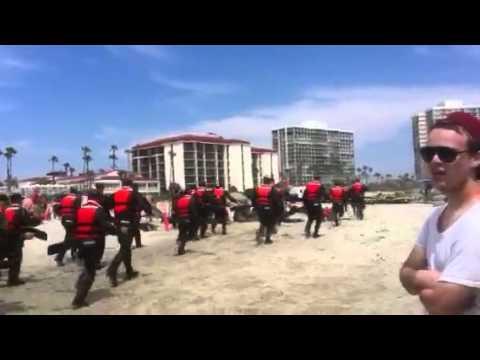 Navy SEALs at Coronado Beach