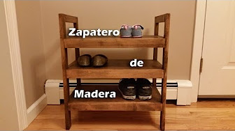 Zapatero de Madera Rustico
