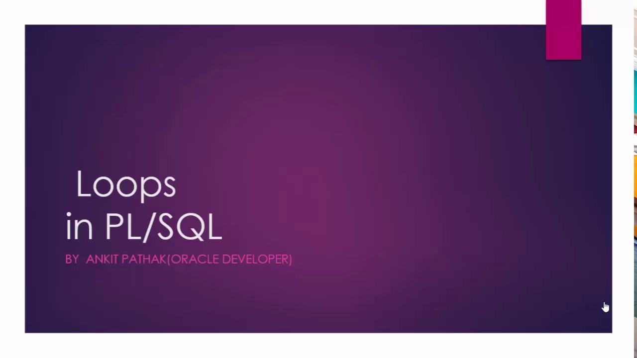 PL SQL Loops Tutorial Explained