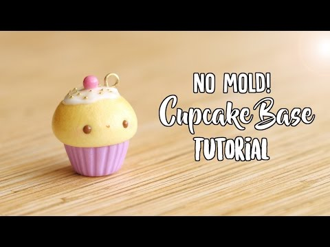 no-mold-cupcake-base│polymer-clay-tutorial-(updated)