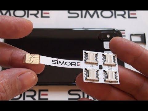 iPhone X Dual SIM - Quadruple Multi-SIM Adapter 4G for iPhone X - SIMore Speed X-Four-X - 동영상