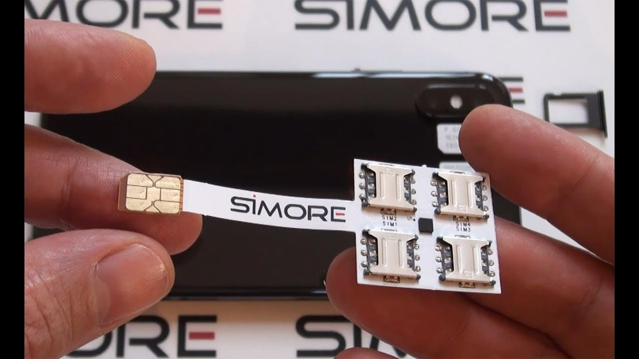 iPhone X Dual SIM - Quadruple Multi-SIM Adapter 4G for iPhone X - SIMore  Speed X-Four-X
