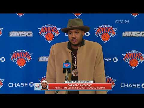Carmelo Anthony Returns to The Garden   New York Knicks   MSG Networks