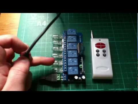 12v wireless 315 MHz remote control relay board 6-channel