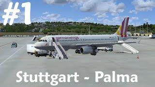 [FSX] Stuttgart - Palma de Mallorca   Aerosoft Airbus A320   4U2592 [1/4]