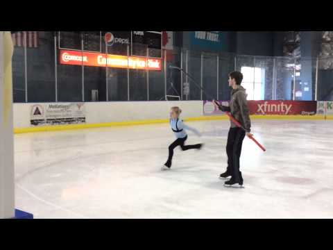 Figure Skating - Single Axel on a Pole Harness