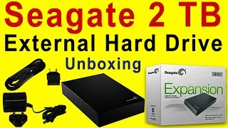 Unboxing of Seagate 2 TB External Hard Drive