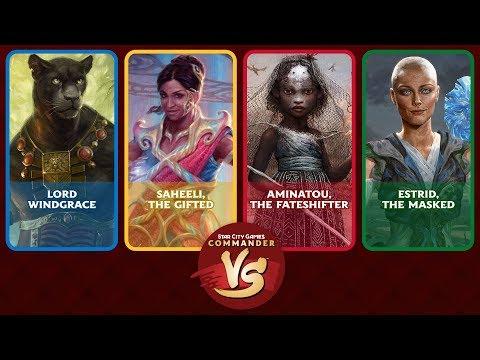 Commander VS S14E5: Lord Windgrace VS Saheeli VS Aminatou VS Estrid [EDH]