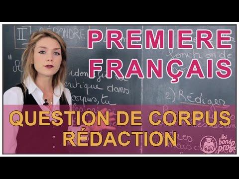 Question de Corpus : rédaction - Français 1ère - Les Bons Profs
