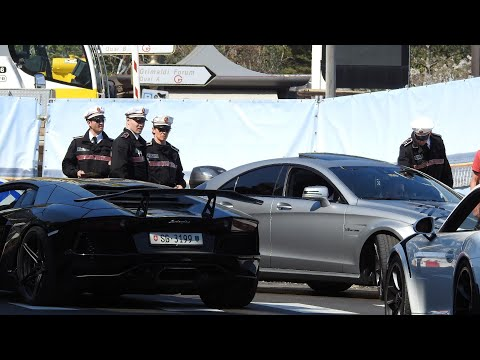 Supercars get arrested by the police at Top Marques Monaco 2018 [ HD] Best Rallyes 06