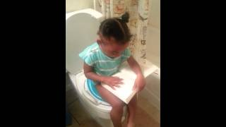 Potty training with a book