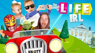 The Game of LIFE (in REAL Life) - Be a JEDI, a Super Hero, or a Youtuber! KIDCITY