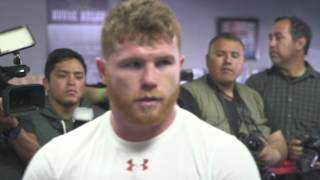 Canelo Alvarez trains on the pads (Video: Golden Boy)