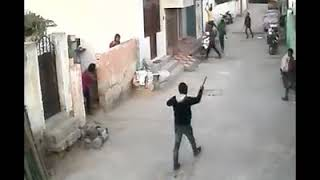 CCTV footage of ROWDY sheeter gang attack on house with deadly weapons at langer house.