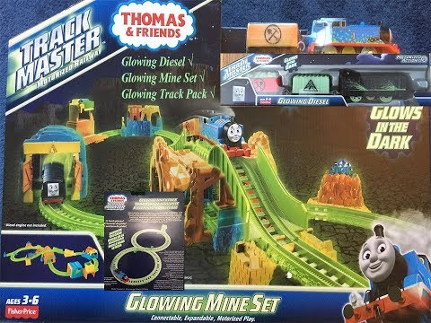 Thomas And Friends Toy Trains & Set-Glowing Trackmaster Diesel & Mine Set!