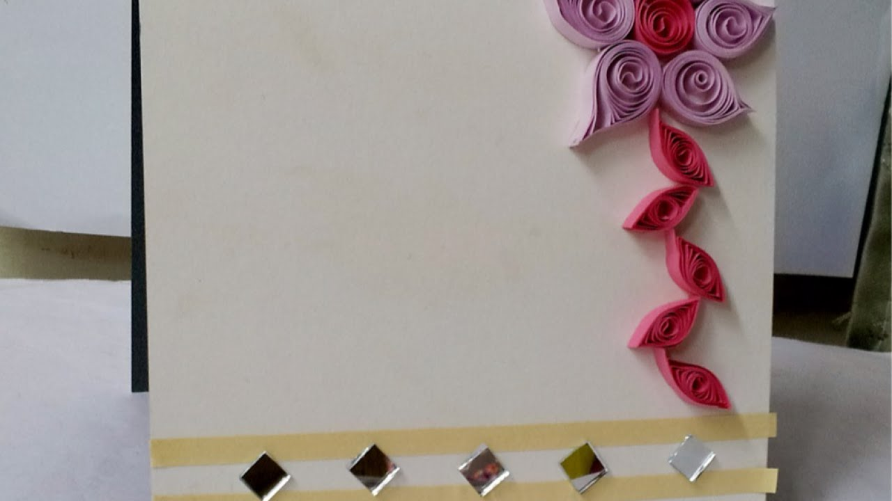 How To Make a Quilled Floral Greeting Card Design - DIY Crafts ...
