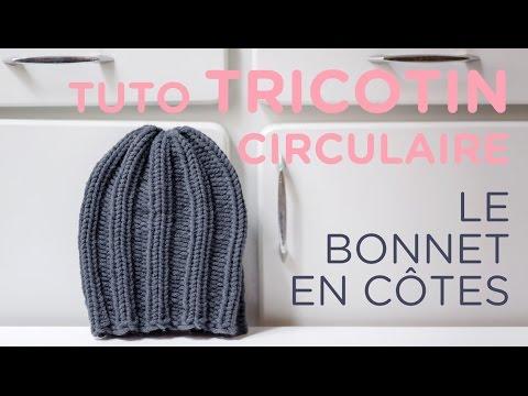 tuto tricotin le bonnet en c tes loom knit a beanie youtube. Black Bedroom Furniture Sets. Home Design Ideas