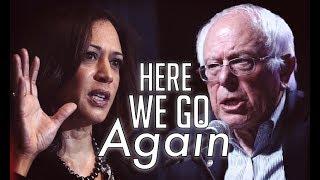 Dem Establishment Trots Out Usual Smear Tactics in Kamala Harris Vs. Bernie Sanders Debate