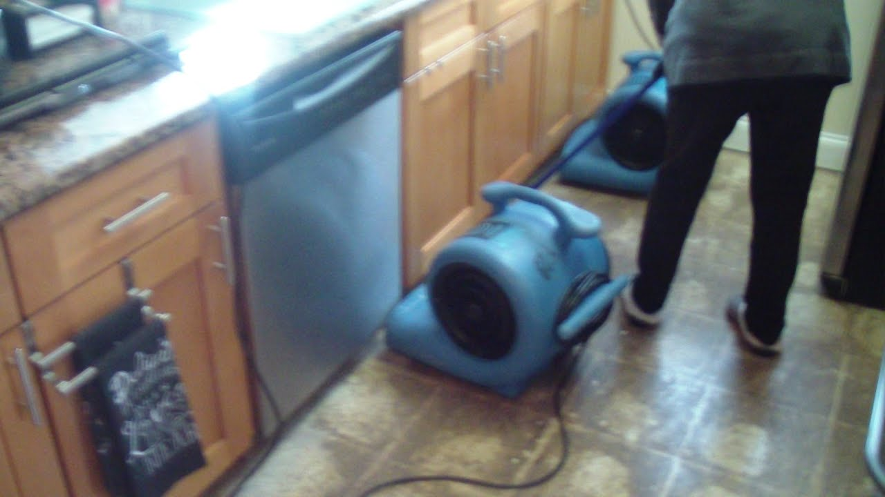 charming Kitchen Sink Flooding #5: Sink floods kitchen and living room Mr Dry Out New Port Richey Florida Feb  2016