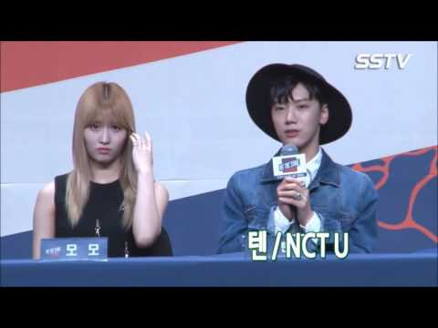 Momo (TWICE) And Ten (NCT) Moments in Hit The Stage Press Conference [teaserFMV]