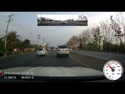 2015-03-03 drive-lapse from Bangkok to Hua Hin, 6x speed, 1080p, 60fps