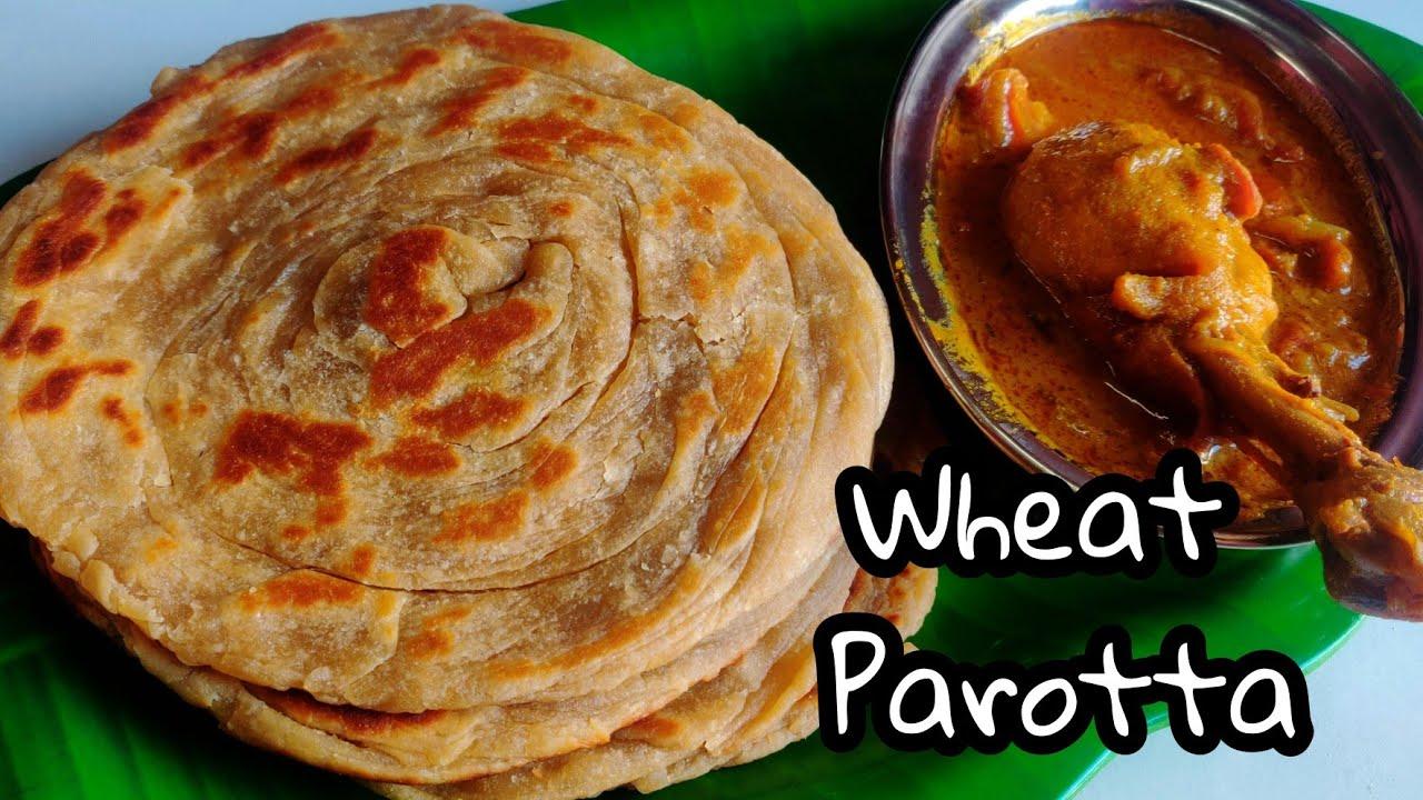 மூன்று விதமான கோதுமை பரோட்டா 😋    கடைகளில் இப்படித்தான் செய்றாங்க   Wheat Parotta Recipe in Tamil