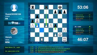 Chess Game Analysis: Vinich - Guest30356184 : 1-0 (By ChessFriends.com)