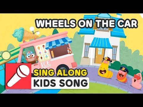 WHEELS ON THE CAR   NURSERY RHYME   BEST KIDS SONG   LARVA KIDS   KARAOKE   SING ALONG