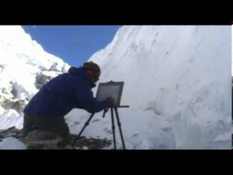 Whitewall - Philip Gray - Painting on Mount Everest