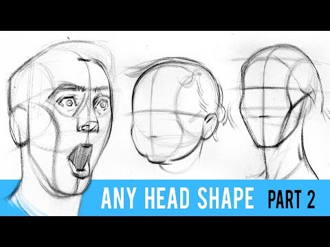 Draw ANY Head Type with the Loomis Method - Part 2