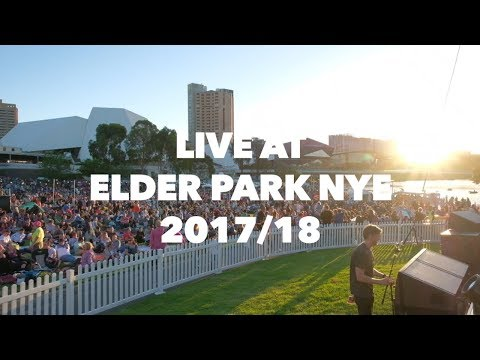 ABRASKA -  'LIVE' at Official Adelaide New Year's Eve 2017 - Adelaide Riverbank Australia