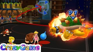 Mario Sports Mix - Donkey Kong, Diddy Kong, Bowser Play Basketball Expert Gameplay | CRAZYGAMINGHUB